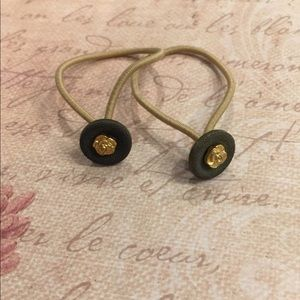 Vintage Set of Button Hair Ties